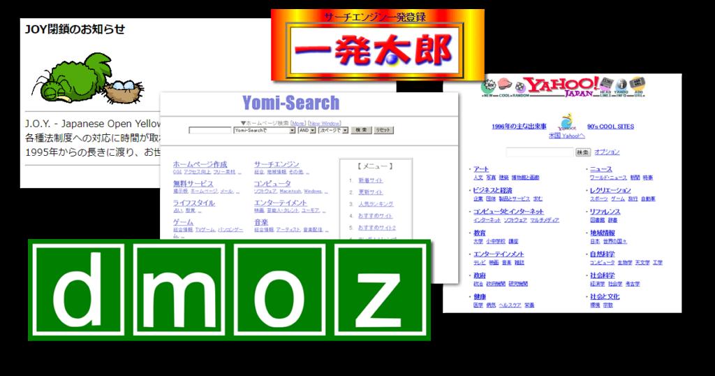 インターネット初期に大人気だったディレクトリ型検索エンジン関連サイト