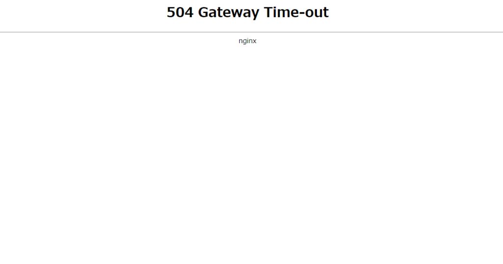 まとめサイトのRSS取得に時間がかかるので504 Gateway Time-outとなる