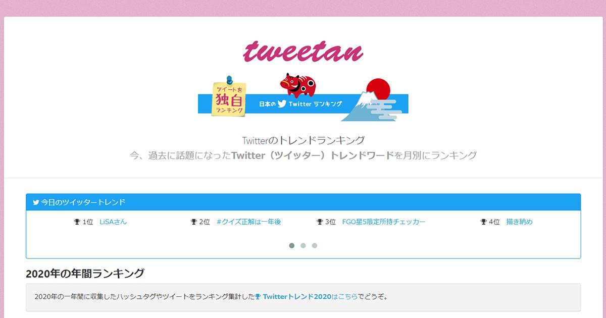 ランキング Twitter トレンド