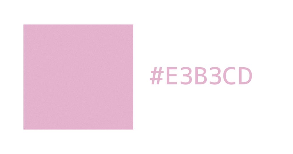 HEX値#E3B3CDのピンクっぽいカラーを使った背景パターン