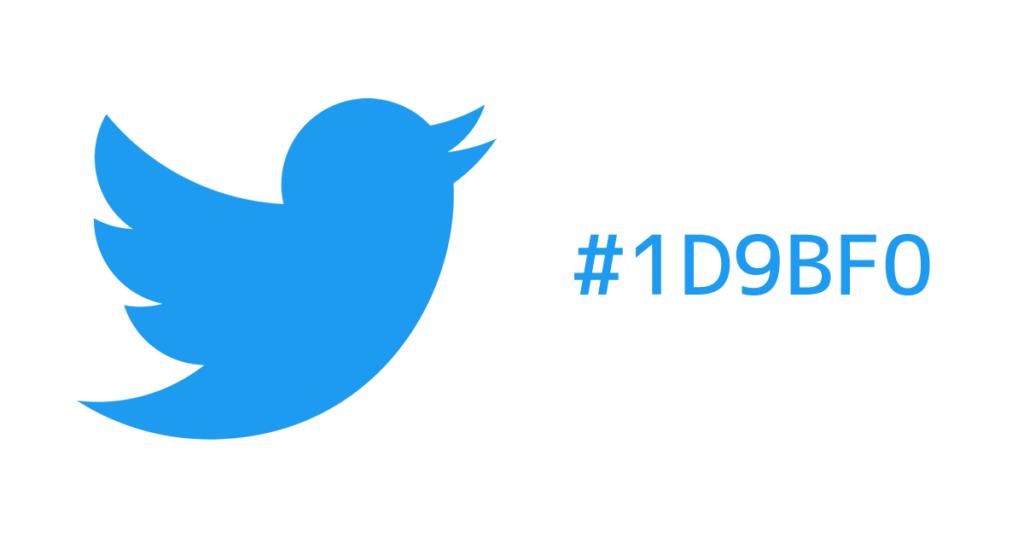 TwitterのロゴカラーのHEX値#1D9BF0