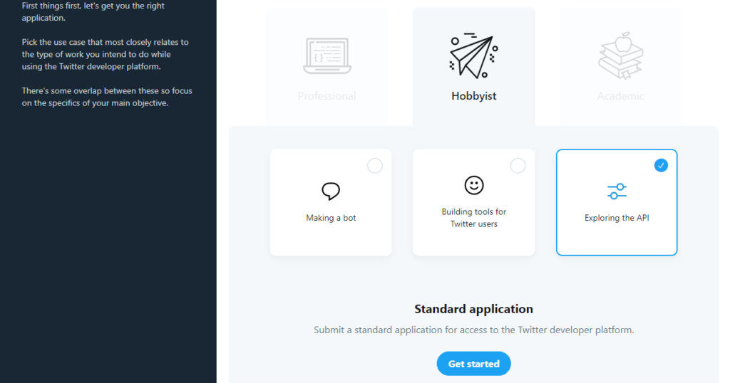 Twitter API Developer Portal - Making a bot_Building tools for Twitter users_Exploring the API